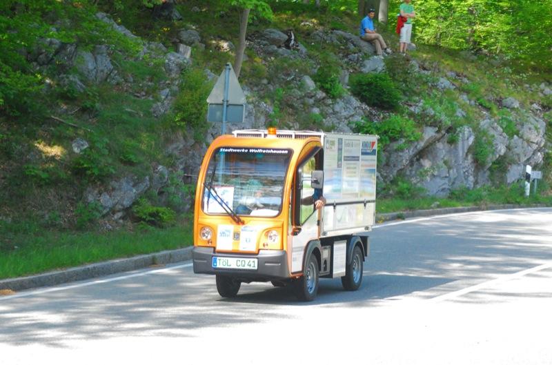 Werbeträger: Nutzfahrzeug der Stadtwerke Wolfratshausen