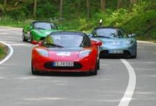 Rückkehr der Tesla Roadsters - Startnummer 62, 63, 64