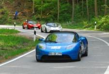 Rückkehr der Tesla Roadsters - Startnummer 65, 66, 67