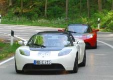 Rückkehr der Tesla Roadsters - Startnummer 66, 67, 69
